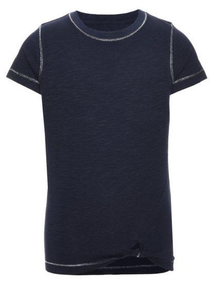Name It Blå t-skjorte med knyting fra Name It, Nitknude – Mio Trend