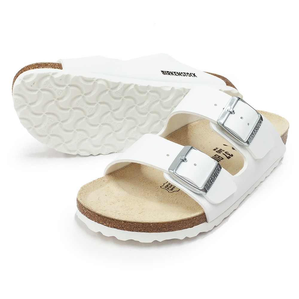a860e4c307fd Birkenstock Hvit Birkenstock Arizona smal sandal – Mio Trend