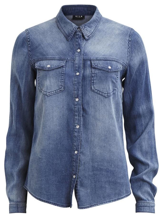 5afdefd0 Vila Blå denimskjorte fra Vila – Mio Trend