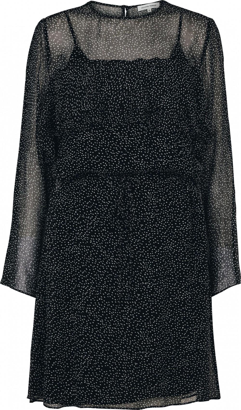 Stella kjole sort med hvite prikker