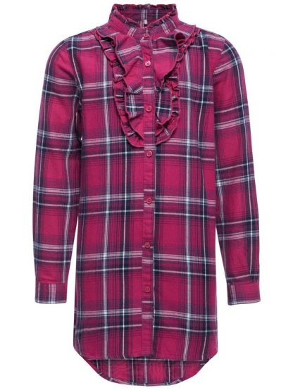 Name It Nithap lang rutete skjorte fra Name It – Mio Trend
