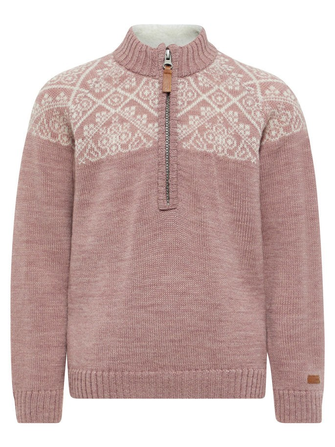 3669eb09 Name It ull, rosa strikket ullgenser til barn, jente