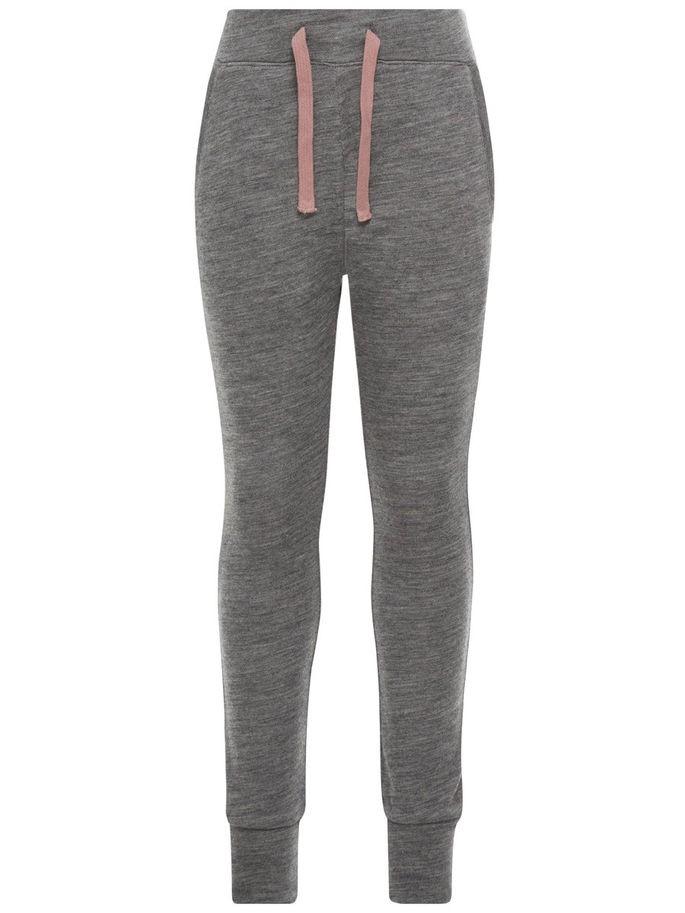8e28568c Name It Name It Kids Nitwespoflo grå joggebukse i ull – Mio Trend