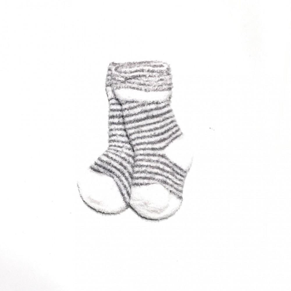 c41284d9 Sokker og strømpebukser Grå stripete Terry-sokker til baby – Mio Trend