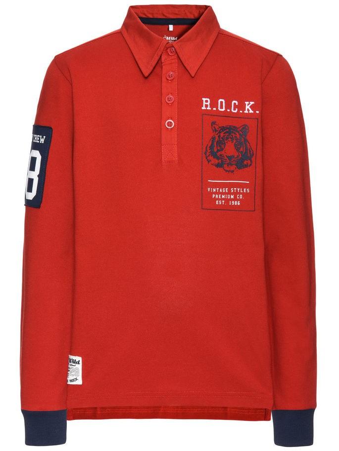 22d18b36 Name It Name It Nitkenny rød pique-genser – Mio Trend