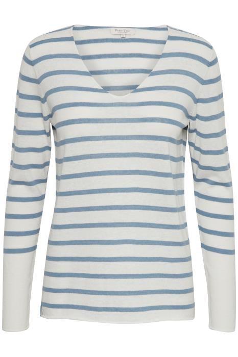 961efe62 Part Two Kosta stripete genser i lin fra Part Two – Mio Trend