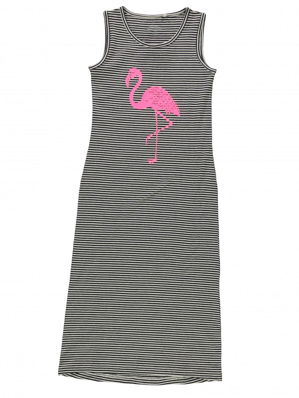 733e49165f1 Sommerkjole til barn, lang maxikjole med flamingo