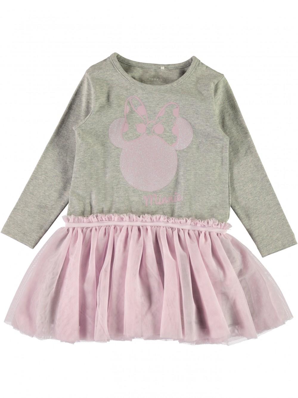 6cce511a Name It Minnie Mus, rosa og grå tyllkjole – Mio Trend