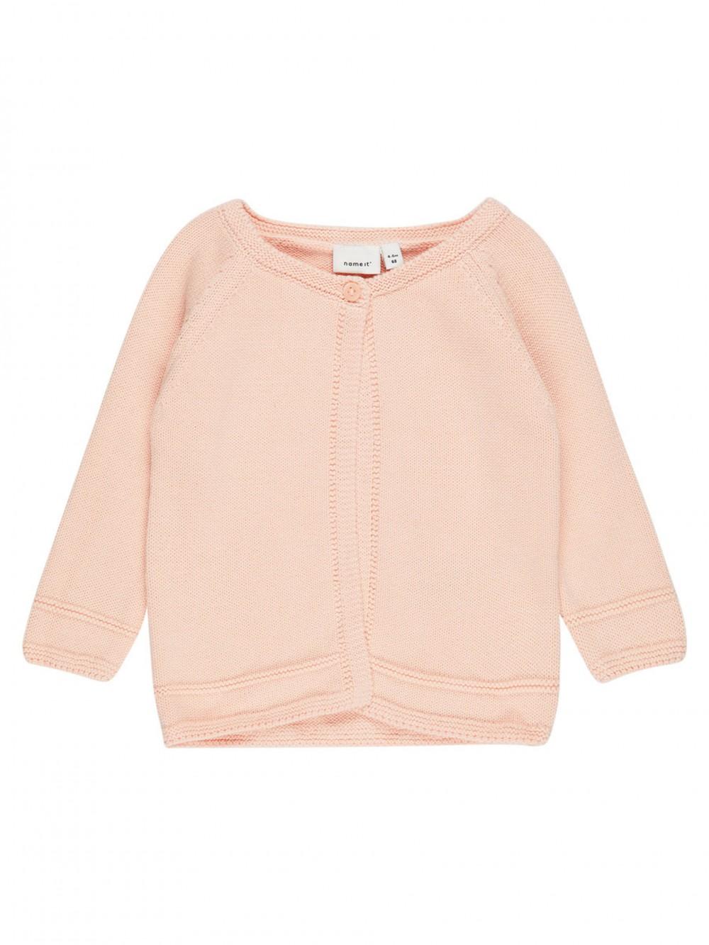 f94eb6a8 Name It Lys ferskenfarget cardigan til baby – Mio Trend