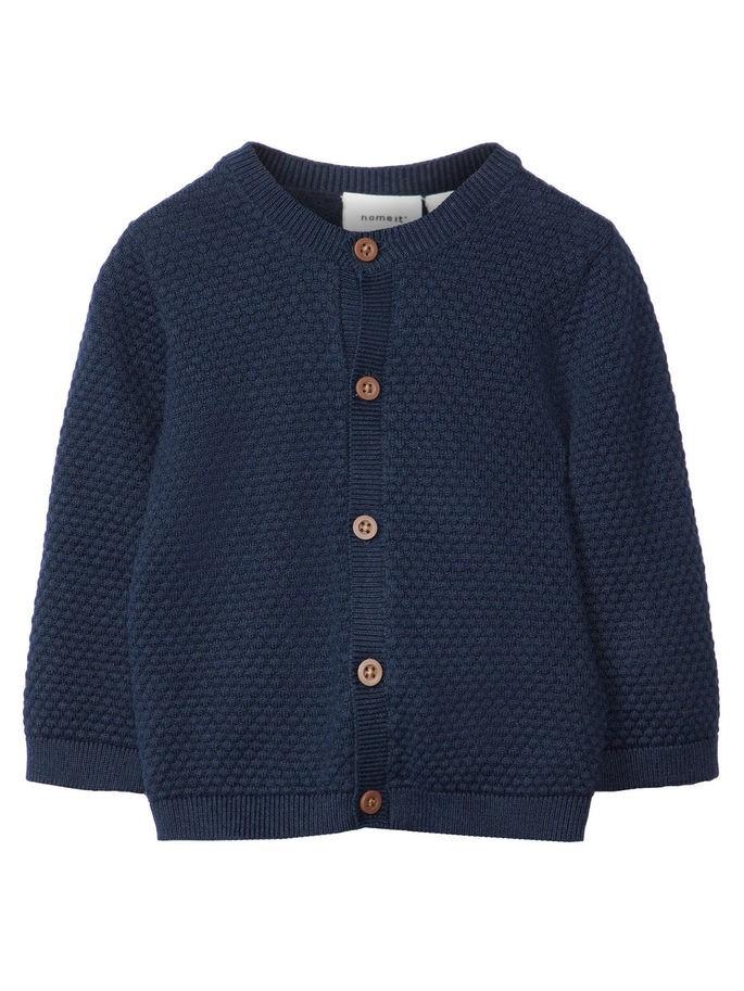 9c302080 Name It Mørk blå strikket cardigan til baby – Mio Trend
