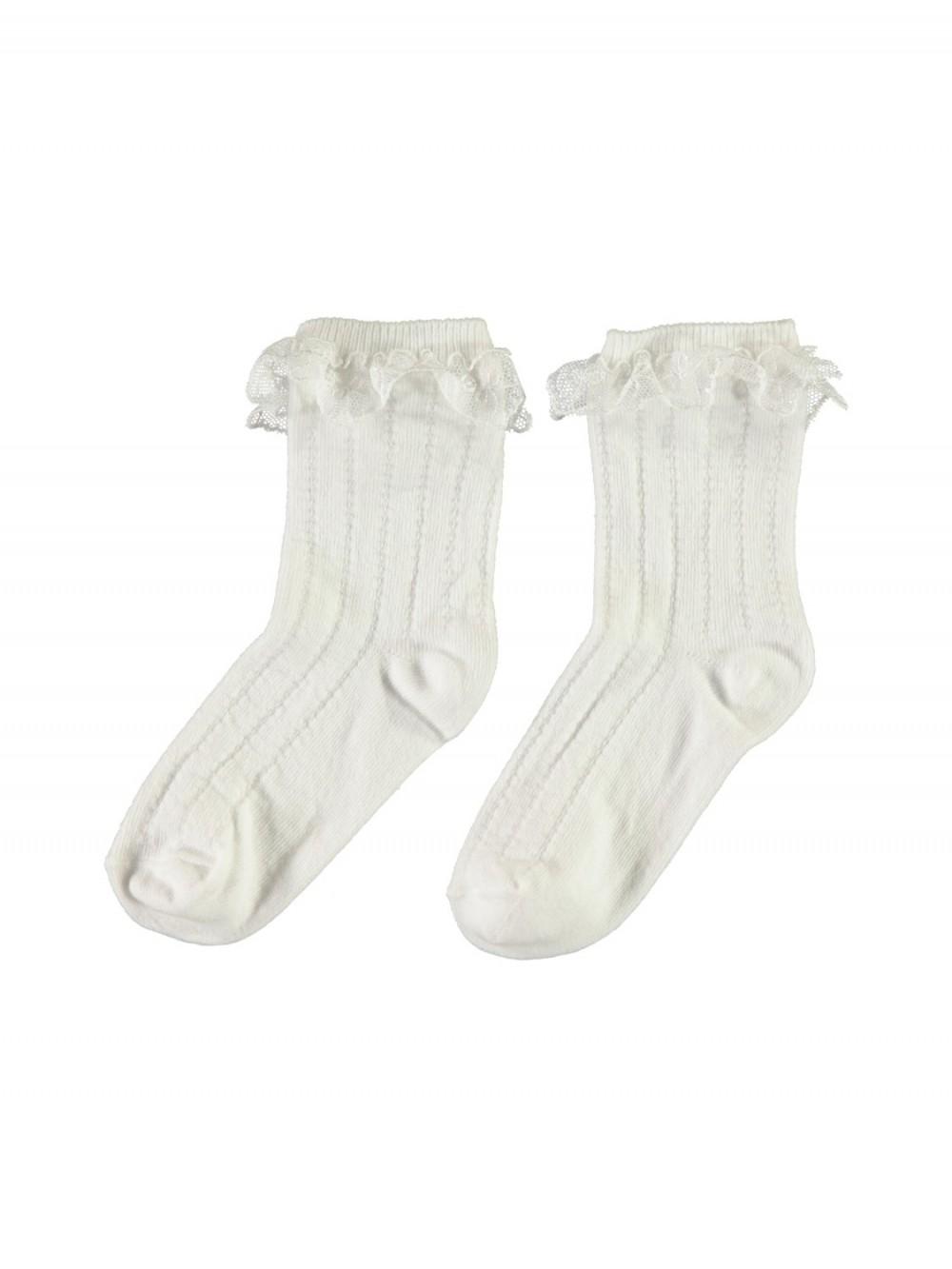 f76aee22 Sokker og strømpebukser Hvite blondesokker – Mio Trend