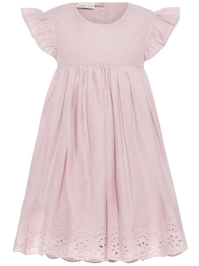 7ed218ad Name It kjole, penkjole til barn, rosa med blonder