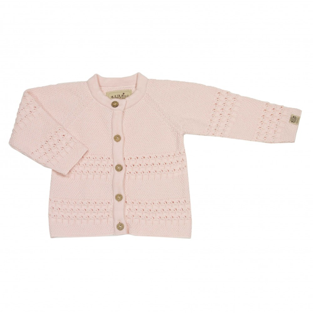 81d769a1 Rosa jakke fra Memini, stikket cardigan til baby jente
