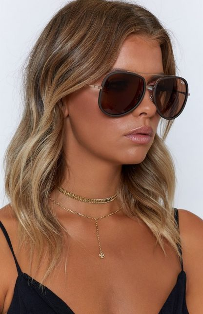 Quay Needing Fame Brown, solbrille fra Quay Australia – Mio Trend