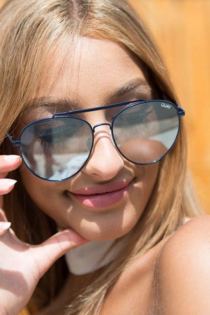 Quay Lickety Split Blue/silver, solbrille fra Quay Australia – Mio Trend
