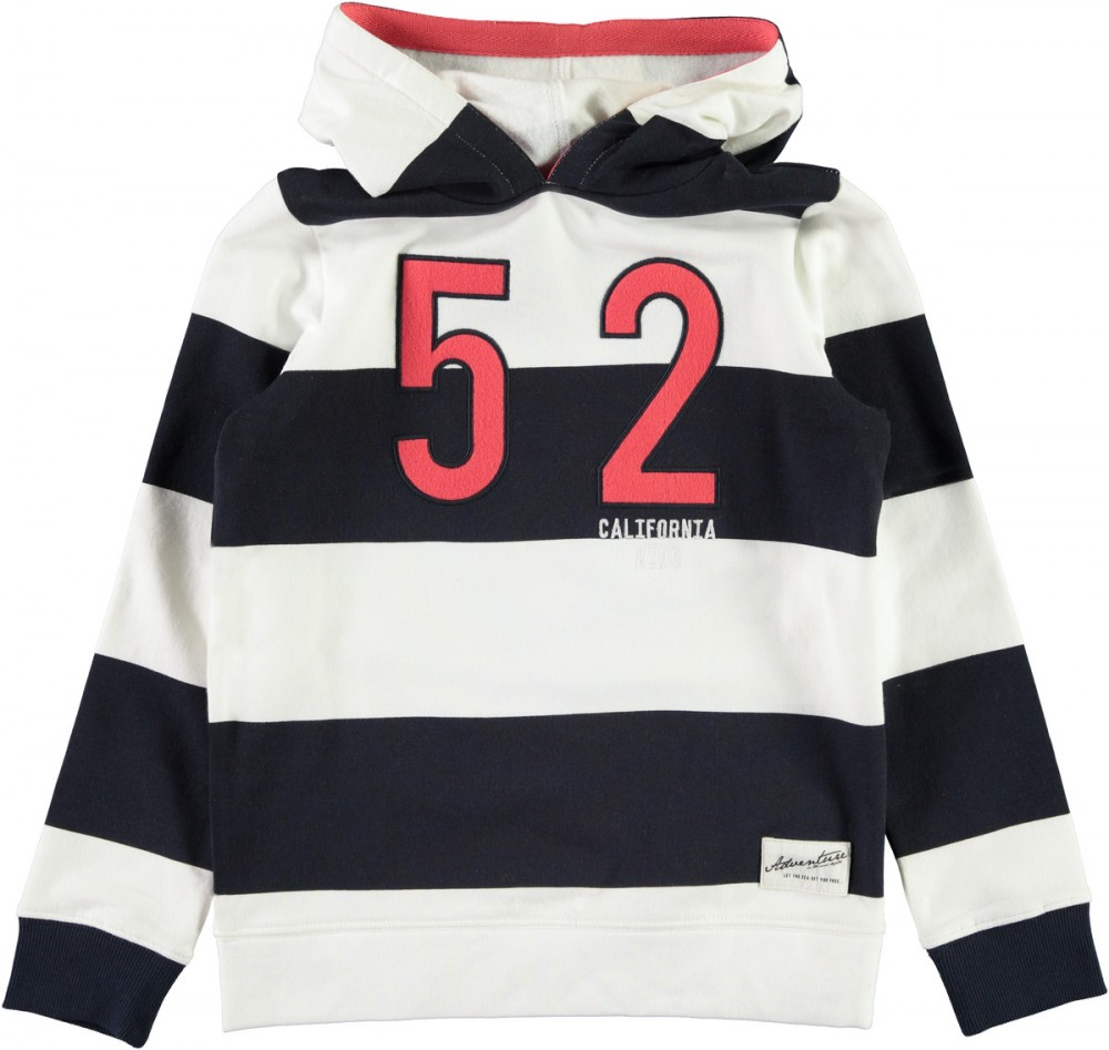33a7799d Name It Mian blå og hvit stripete hettegenser – Mio Trend
