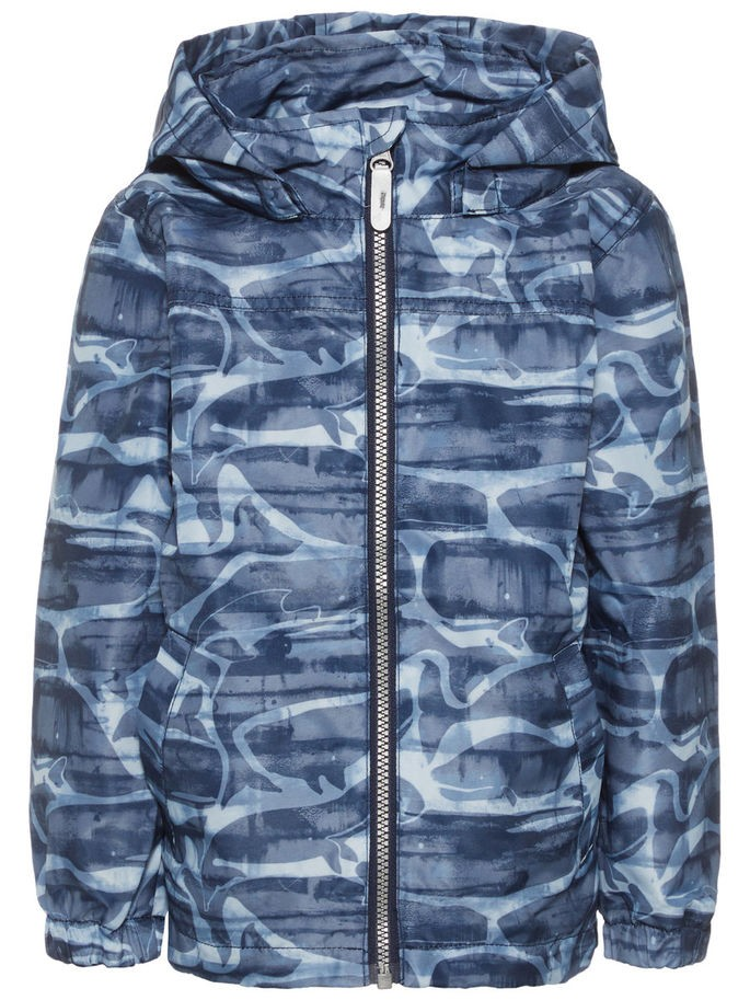 ec4af1f1 Name It Mellon blå overgangsjakke med hval – Mio Trend