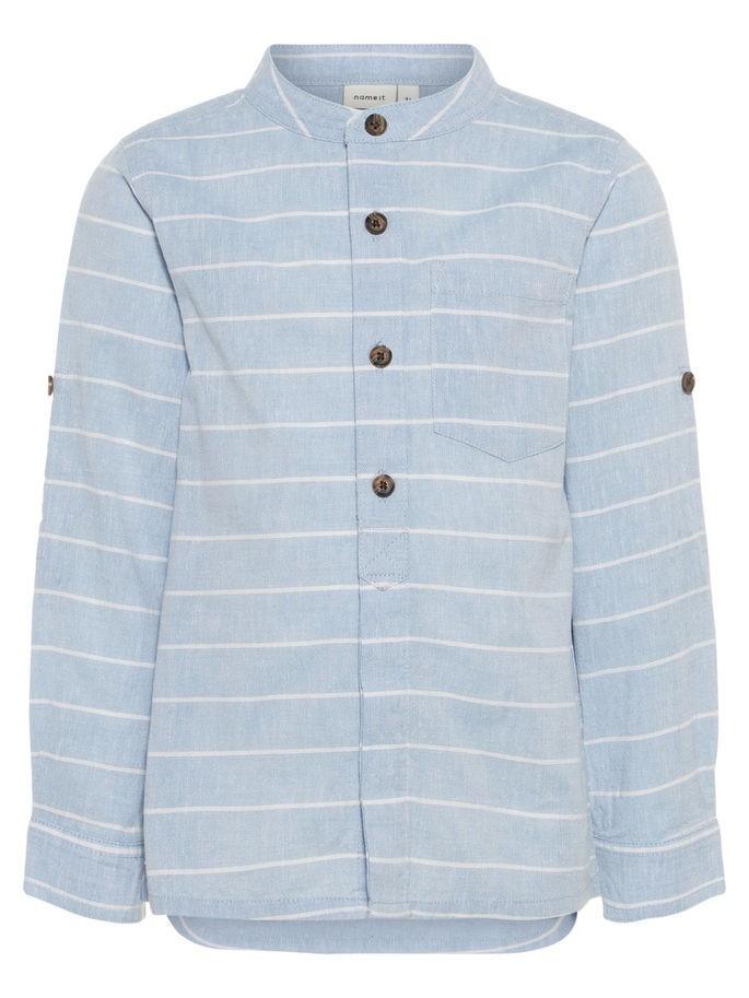 Faksa lyse blå stripete skjorte MioTrend