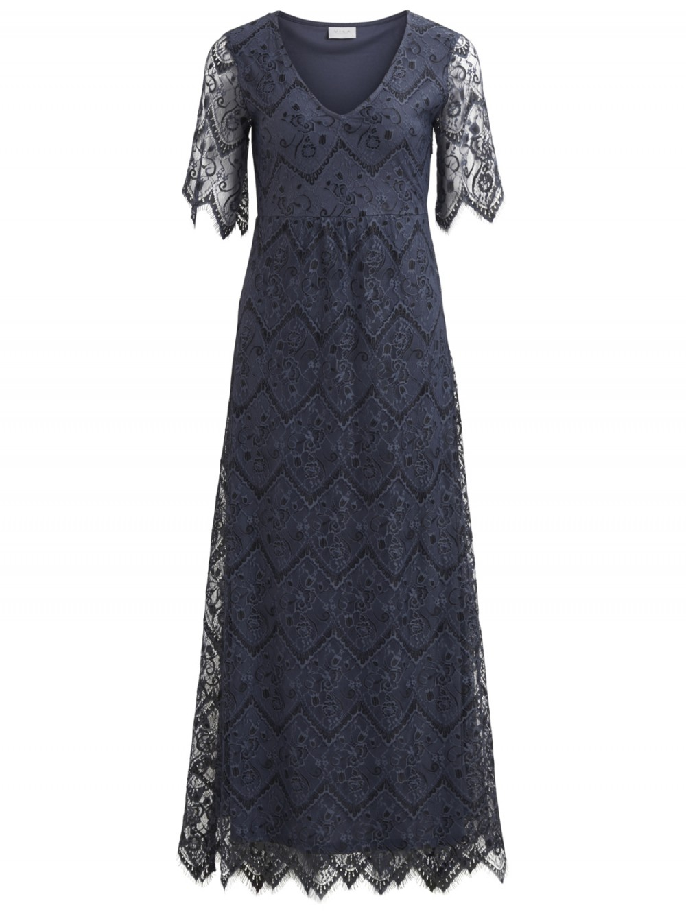 a2f0bc5ab Vila lang kjole, maxikjole med blonder, selskapskjole