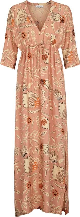 Second Female Fresco ferskenrosa lang kjole – Mio Trend