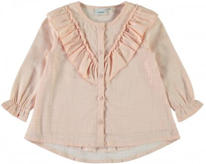 Name It Garsilla rosa bluse med rysjer – Mio Trend