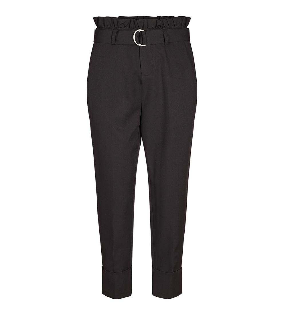 09d6a157 Bukse med høyt liv, sort, svart dressbukse til dame med ekstra livhøyde
