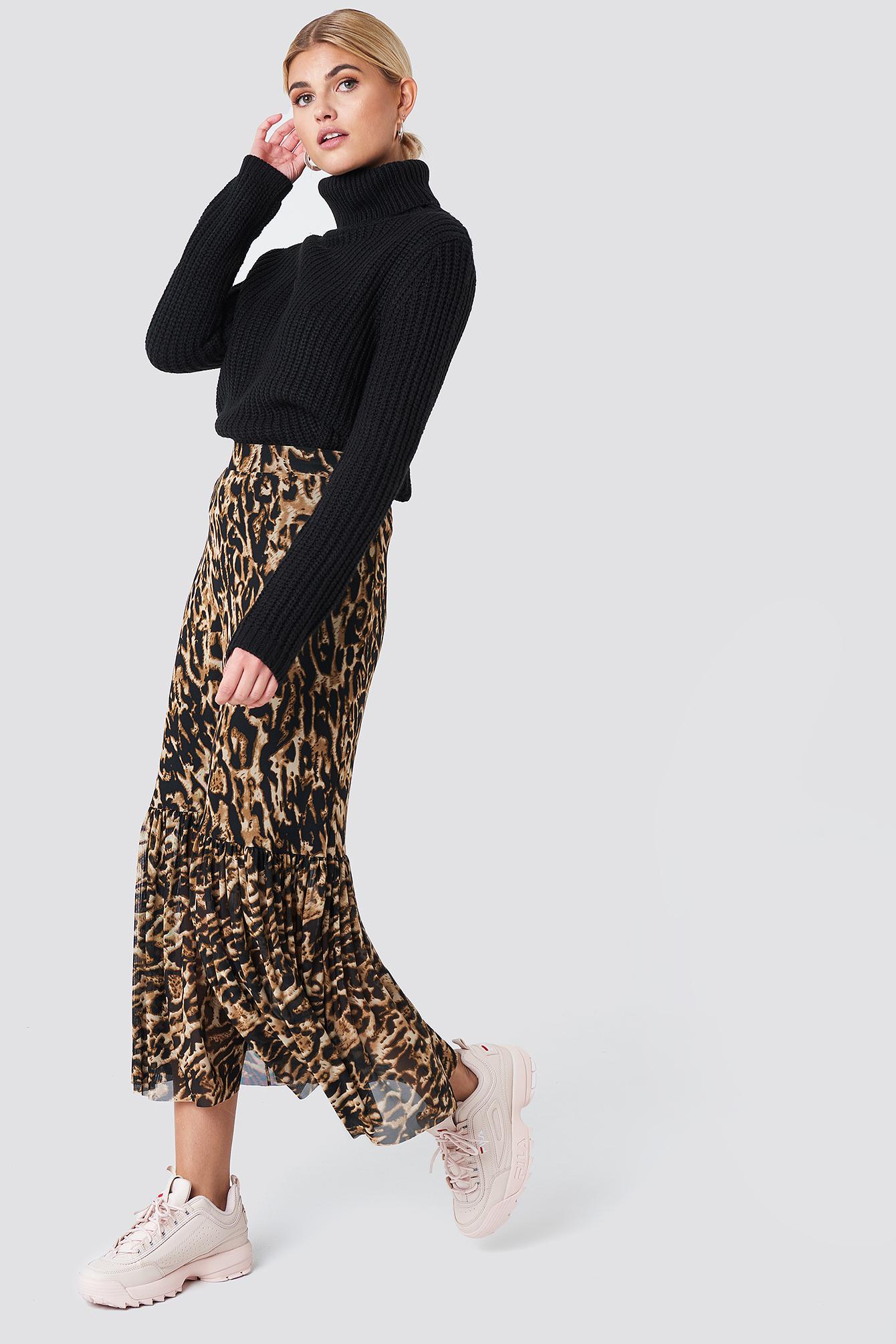 6c25de2c sort genser med høy hals, svart stikkegenser fra Rut & Circle