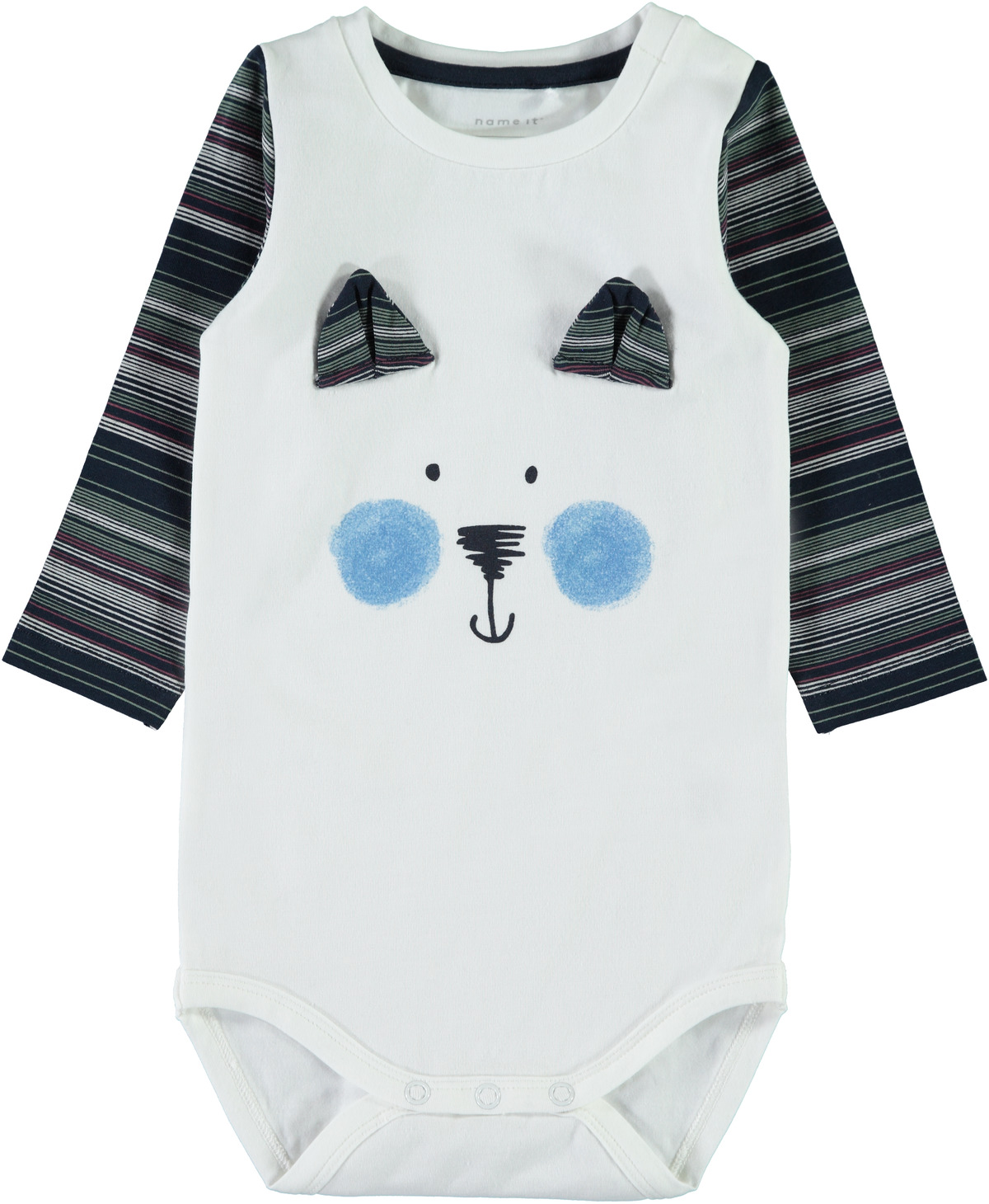 d6008c36 Name It body, body til barn og baby med bamse på magen, barneklær
