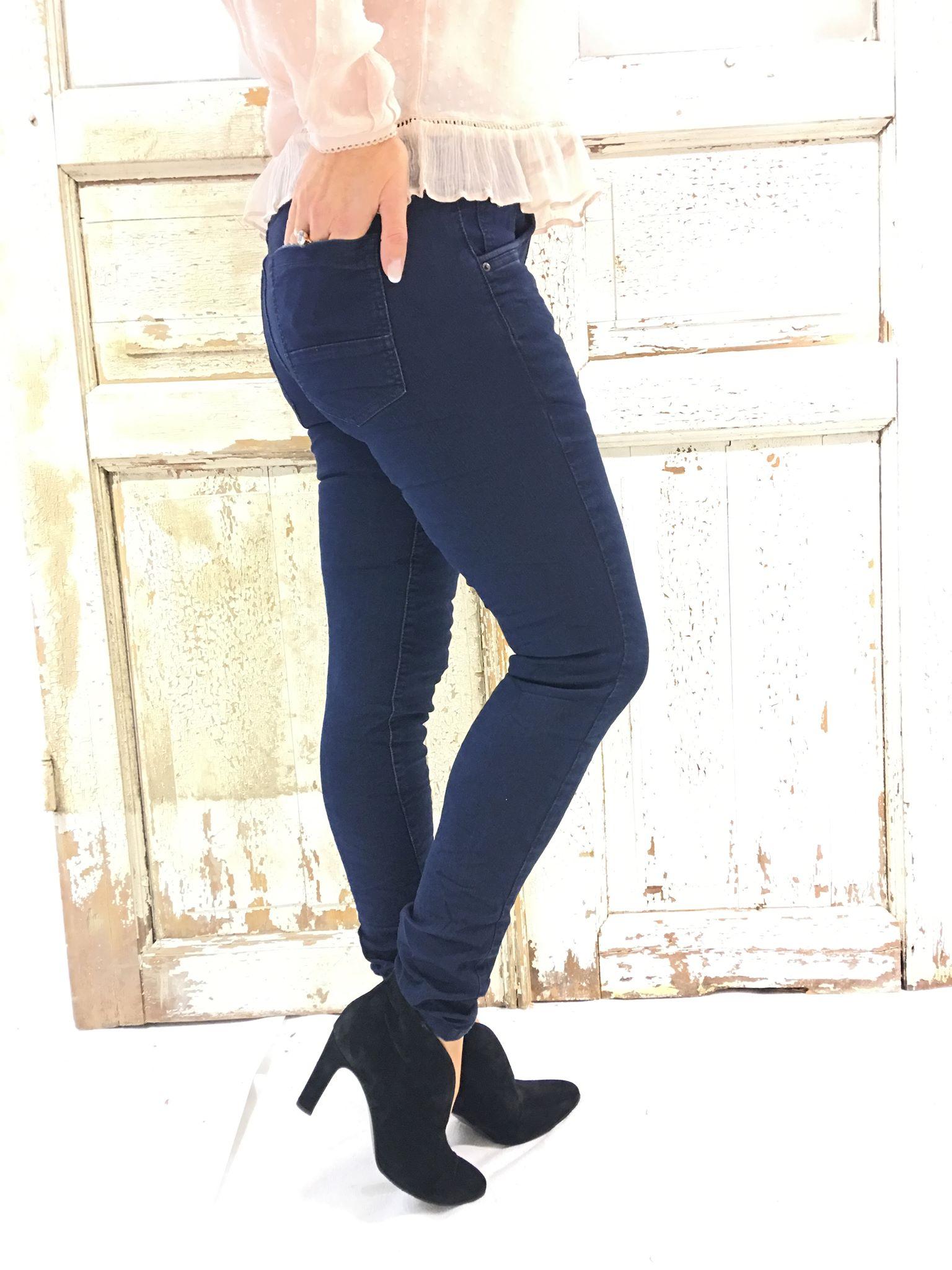 Alma mørk blå jeans