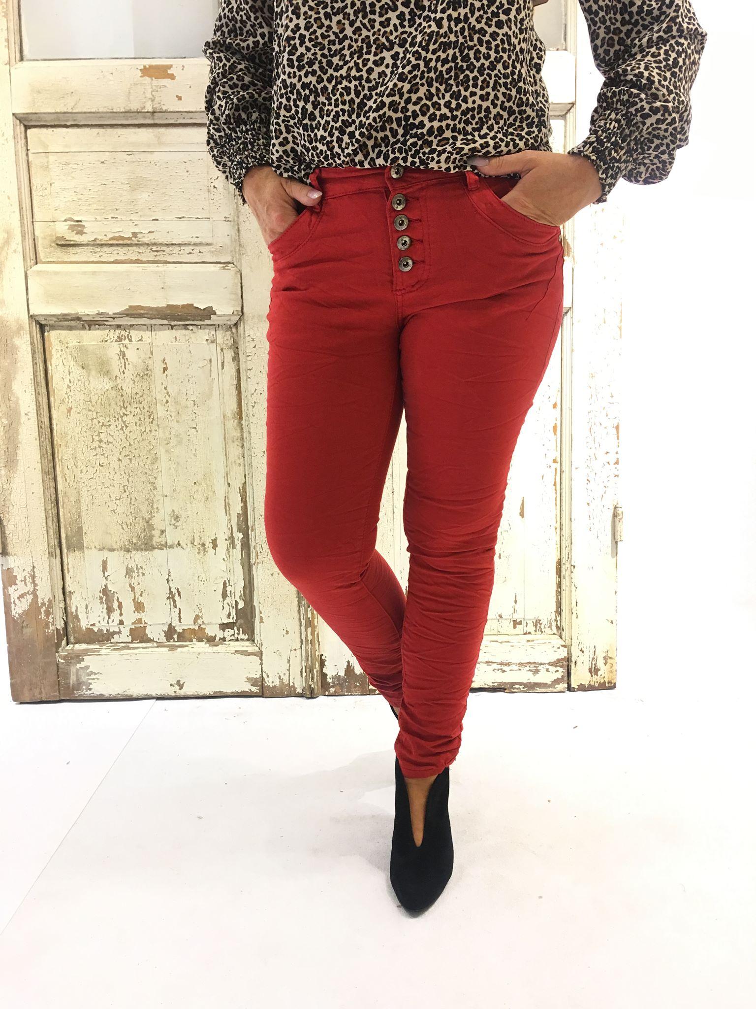 66b67f2a Pepper, rød bukse fra Pepper, Pepper jeans og bukse, rød jeans til dame