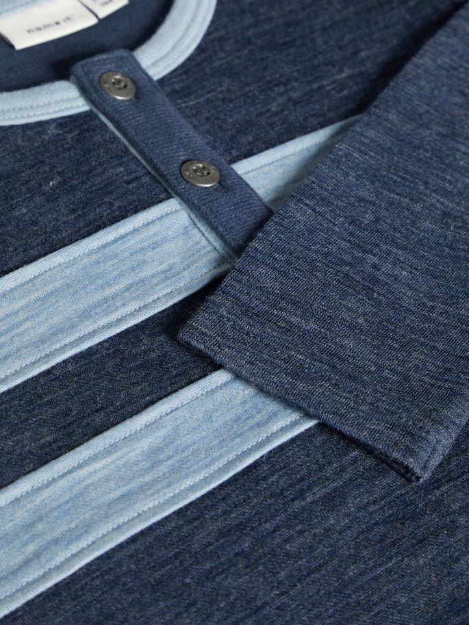 blå genser i ullbomull Wuppo MioTrend