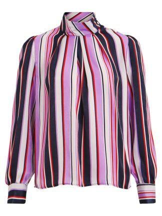 Lilla bluse med striper fra Vila