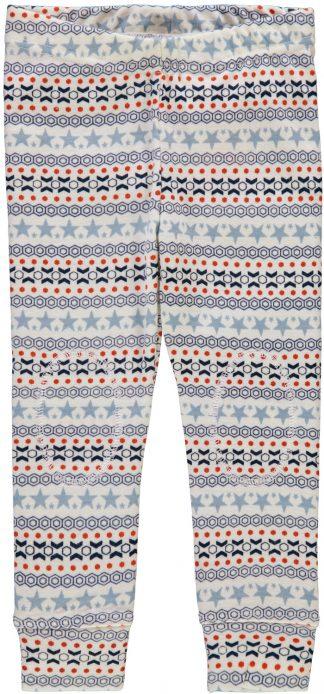Stillongs i ull med blått mønster, til gutt fra Name It.