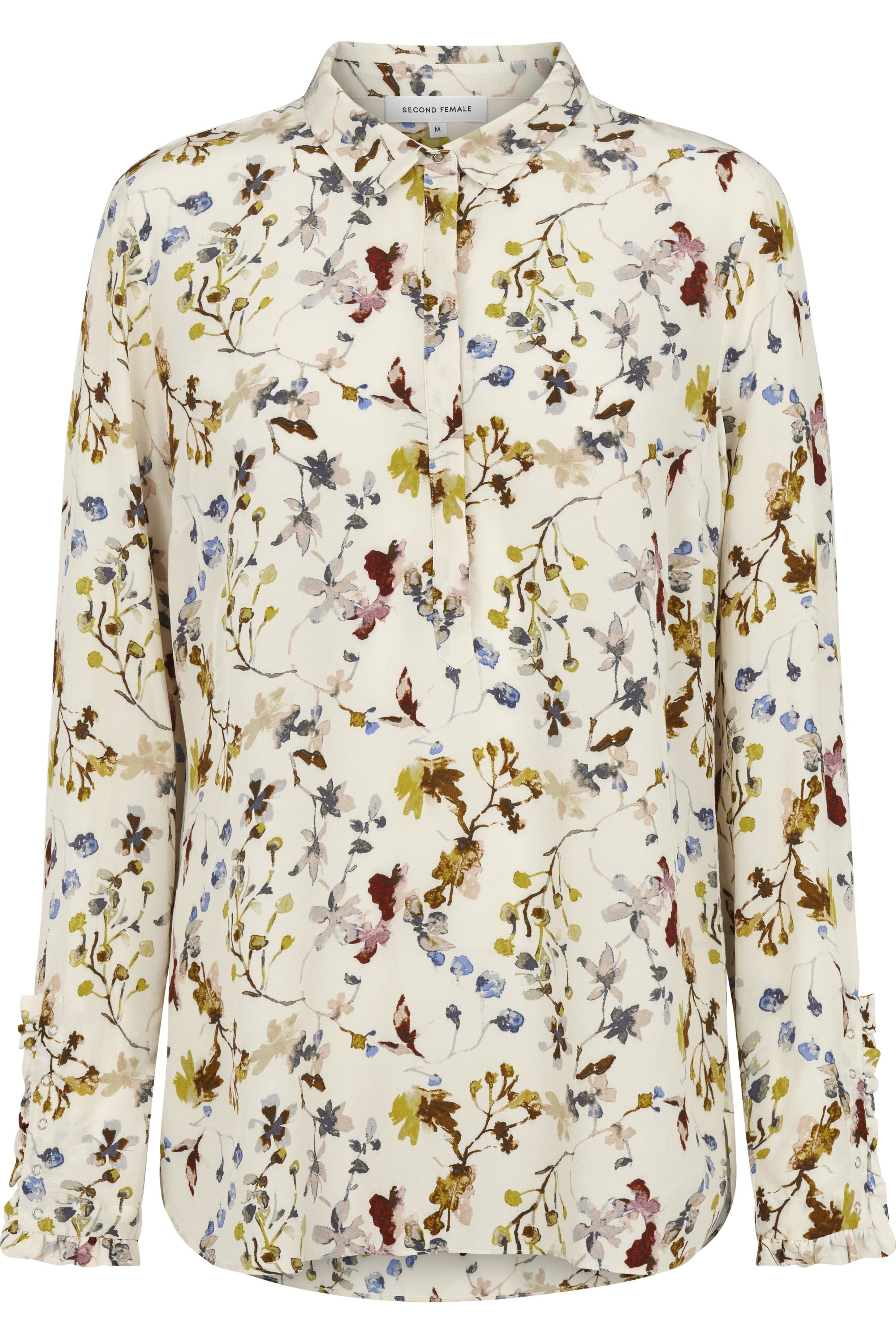 917c1411 Off white bluse med blomster i fine farger fra Second Female – Second Female  Scarlet bluse