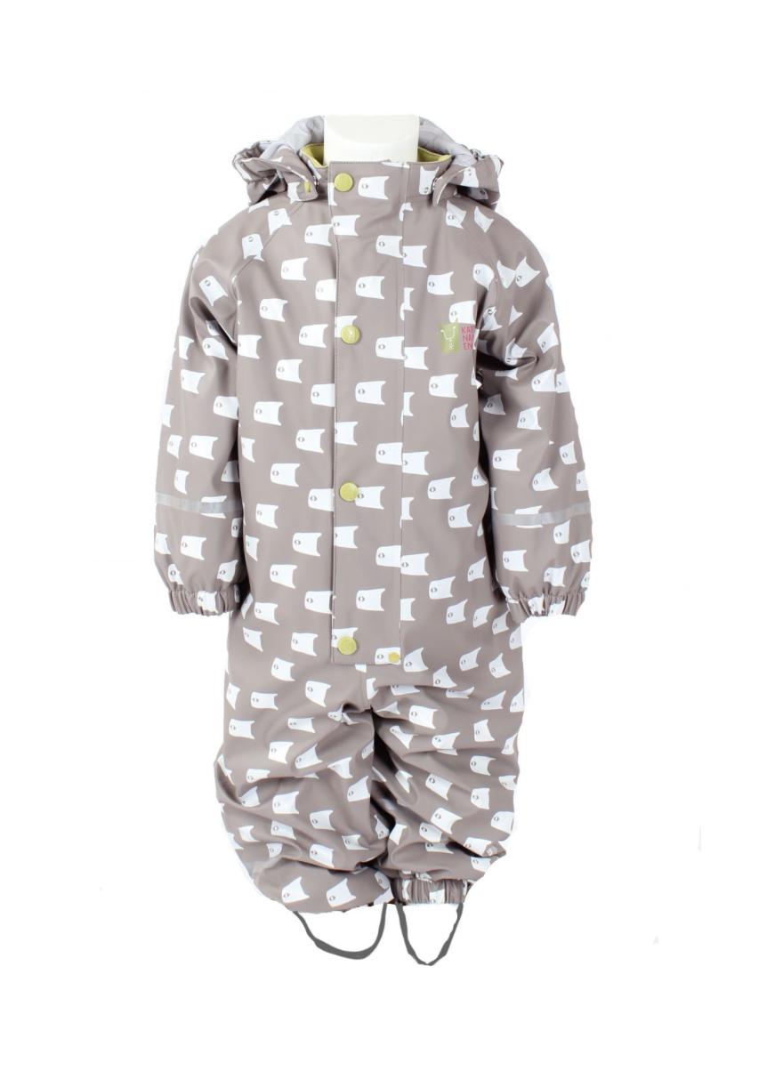 7a01a62c Regndress til baby, grå muldvarp fra Kattnakken – Kattnakken regntøy Grå  hel regndress, Fiskestim