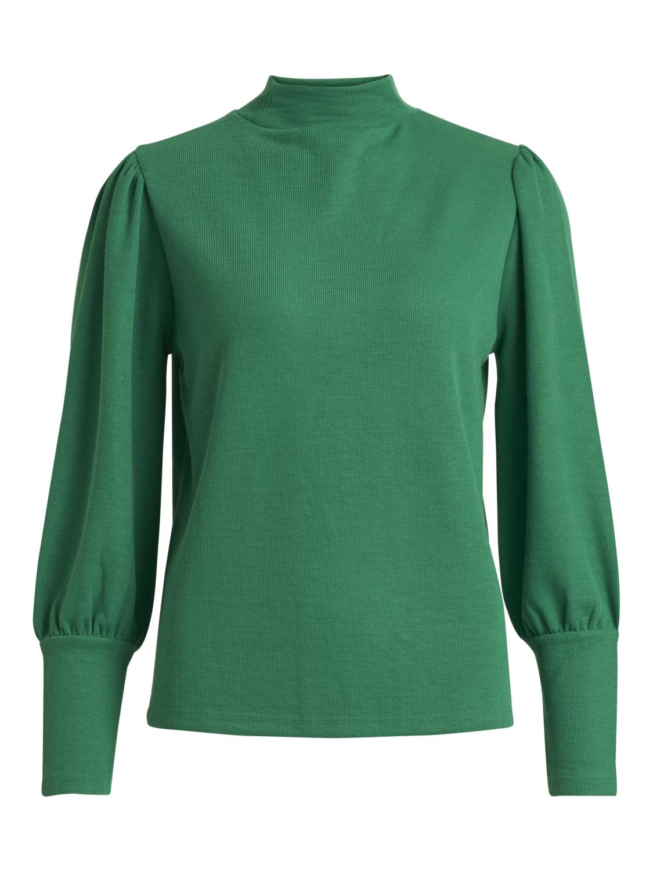 6904642a Vila grønn genser med høy hals – Vila Vikelana grønn genser – Mio Trend