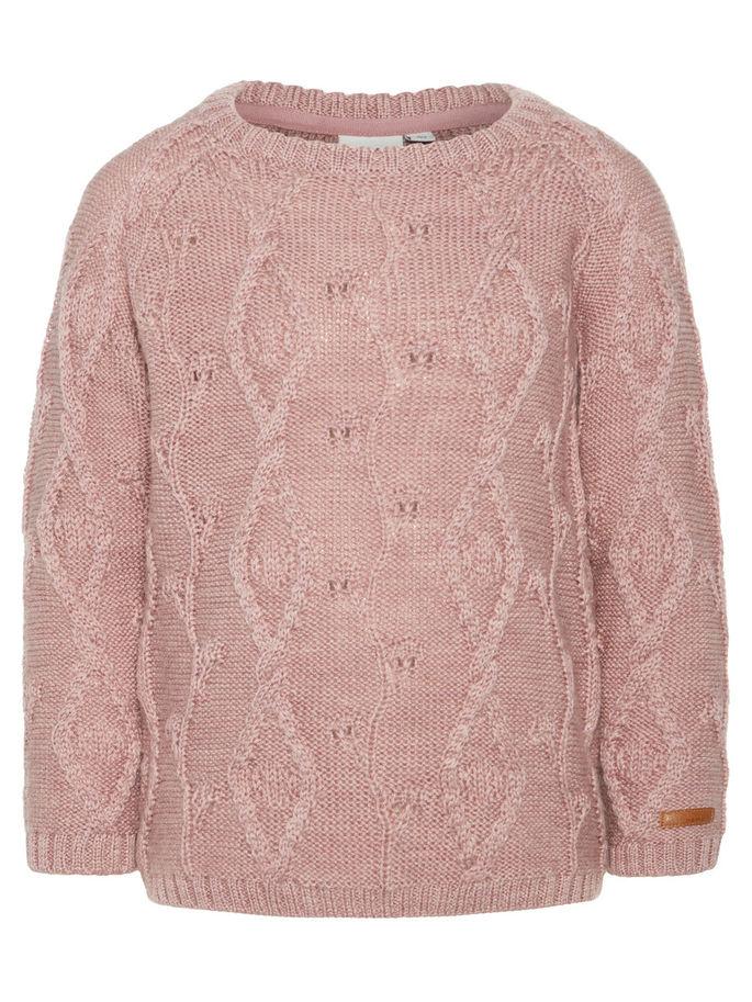 a14cbc1a Ull fra Name It, rosa genser til jente i 100% ull, ullundertøy til barn