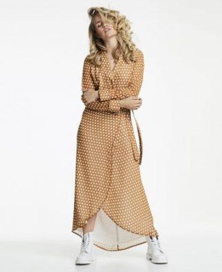 Line of Oslo kjole, brun med prikker