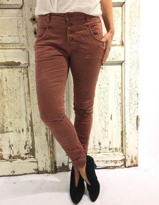 Rustrød bukse fra Bianco Jeans