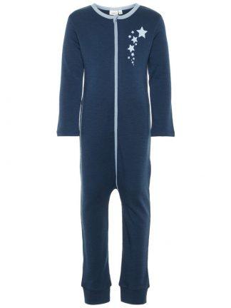 Pysjamas i ull til barn, blå