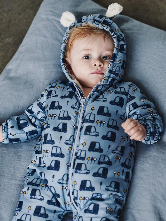 2e0cf50e6 Mir blå vinterdress til baby