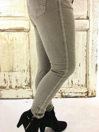 Piro beige bukse med stripe