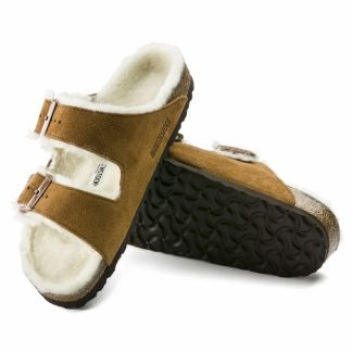 Birkenstock sandaler med pels