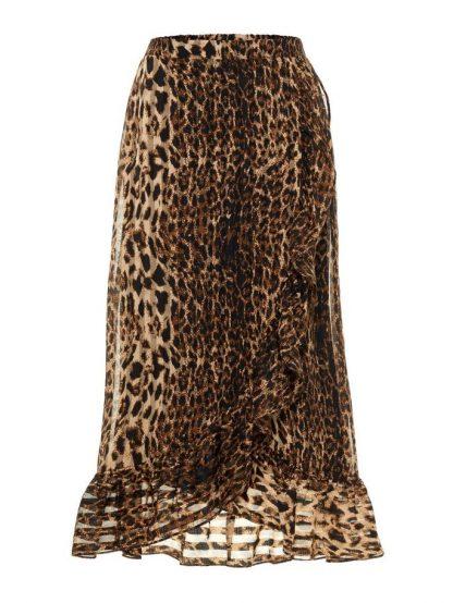 Leopardskjørt fra YAS – Y.A.S skjørt i leopard  – Mio Trend