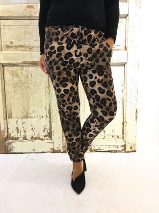 Bukse fra Pepper med leopardmønster