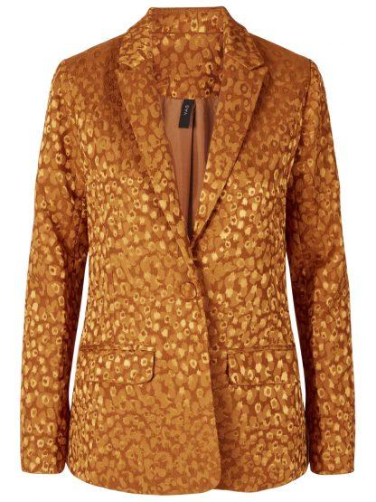Okergul blazer, dressjakke til dame – Y.A.S Ebo okegul blazer – Mio Trend