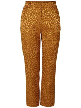 Okergul bukse, dressbukse til dame