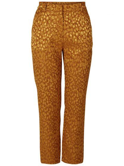 Okergul bukse, dressbukse til dame – Y.A.S Ebo okergul bukse – Mio Trend