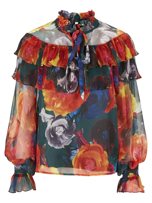 7cfc7b86d Bluse med herlige farger, fra YAS, lekker topp i blått, orange, rødt ...