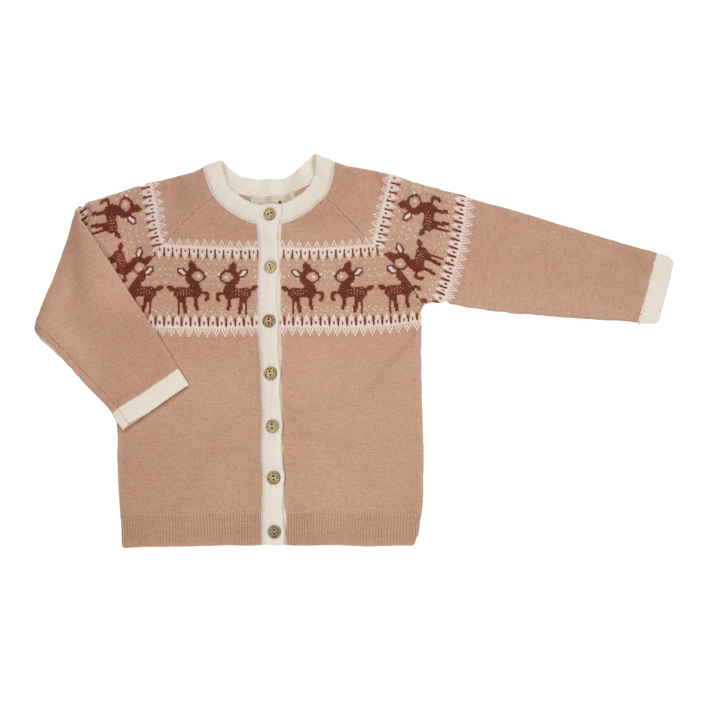 fce25d43 MeMini rosa strikkejakke – MeMini MeMini Bambi rosa cardigan – Mio Trend